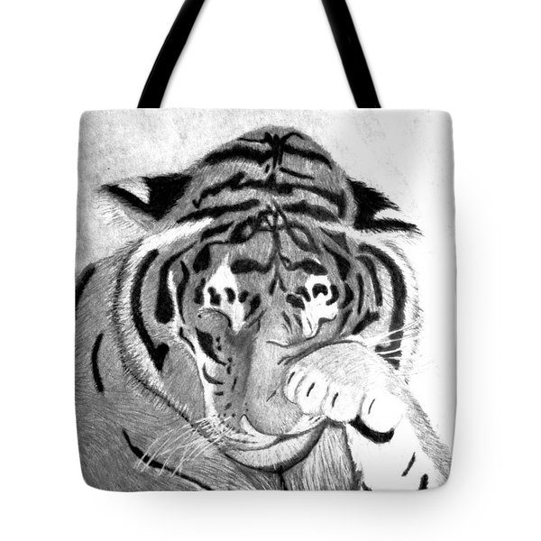 Sleepy Tiger Tote Bag