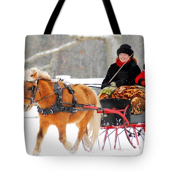 Sleigh Ride Tote Bag by James Kirkikis