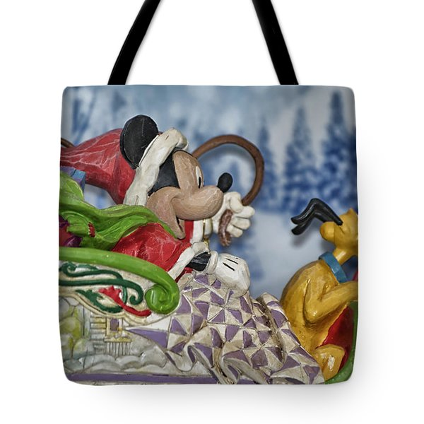 Sleigh Riding Tote Bag by Thomas Woolworth