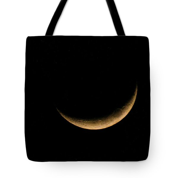 Tote Bag featuring the photograph Slender Waxing Crescent Moon by Katie Wing Vigil