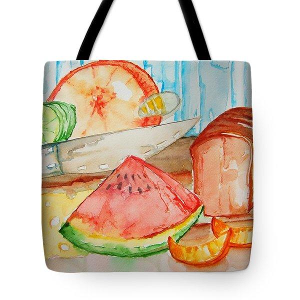 Slice It Tote Bag by Elaine Duras