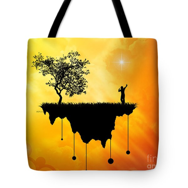 Tote Bag featuring the digital art Slice Of Earth by Phil Perkins