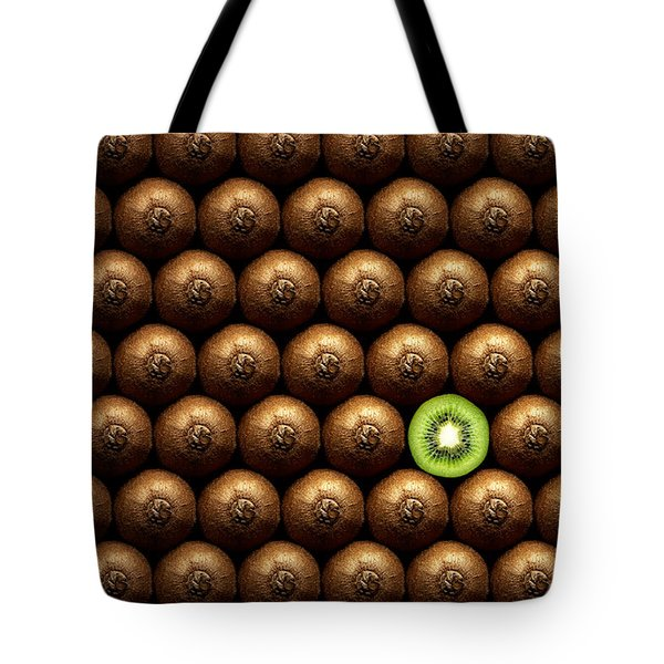 Sliced Kiwi Between Group Tote Bag by Johan Swanepoel