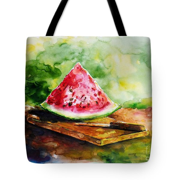 Sliced Watermelon Tote Bag