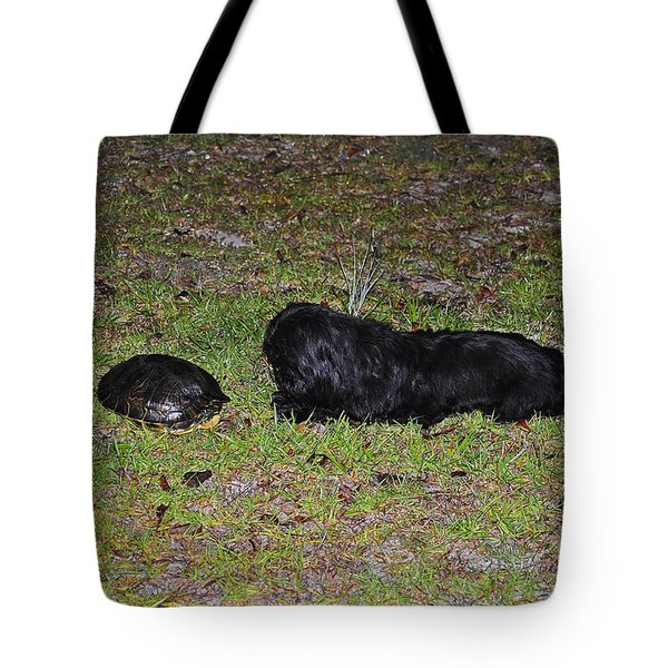 Slider And Shih-tzu Tote Bag by Al Powell Photography USA