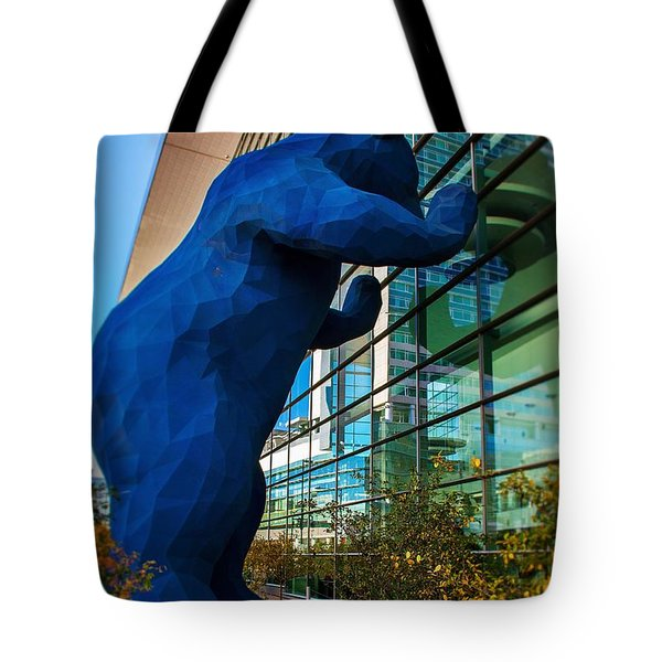 Slightly Blurry Denver Bear Tote Bag by For Ninety One Days