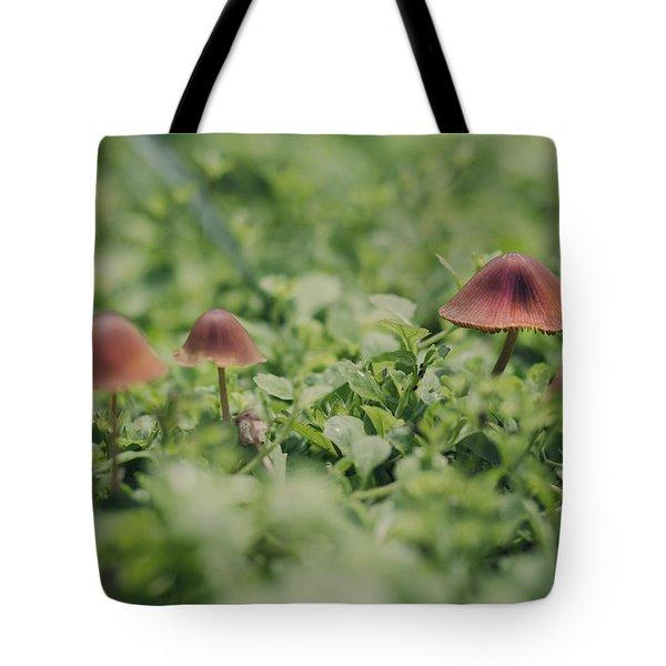 Slightly Magical Mushrooms Tote Bag by Heather Applegate
