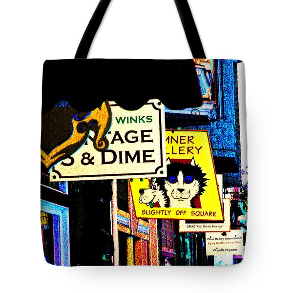 Slightly Off Square Tote Bag