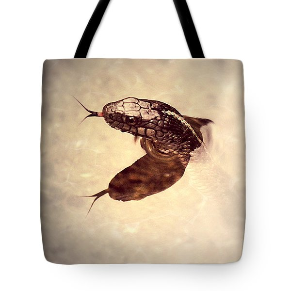 Tote Bag featuring the photograph Slithering Reflections by Melanie Lankford Photography