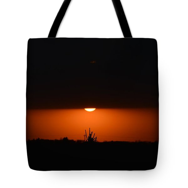 Sliver Of A Sunset Tote Bag by Dacia Doroff
