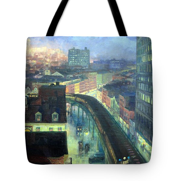 Sloan's The City From Greenwich Village Tote Bag by Cora Wandel