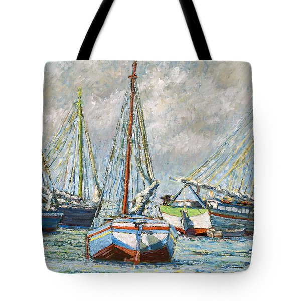 Sloops At Rest Tote Bag