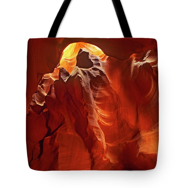Slot Canyon Formations In Upper Antelope Canyon Arizona Tote Bag by Dave Welling