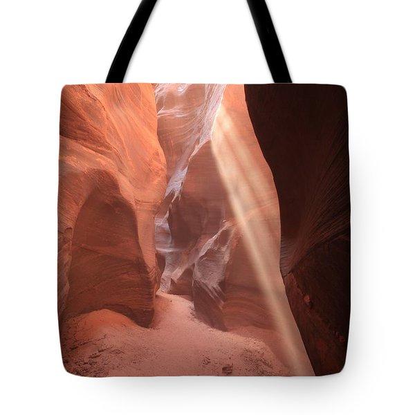 Slot Canyon Rays Tote Bag
