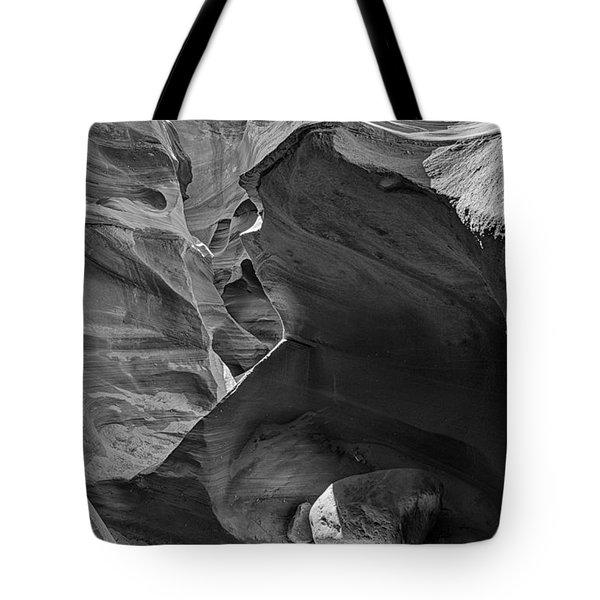 Slot Canyons In Black And White  Tote Bag by Saija  Lehtonen