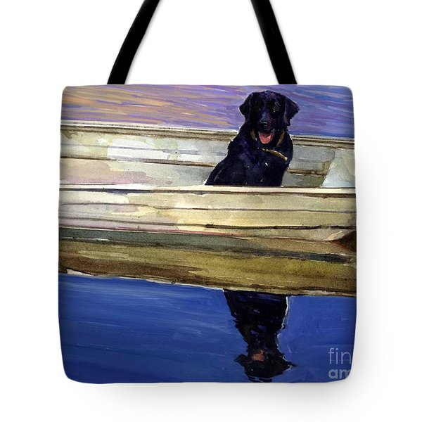 Slow Boat Tote Bag by Molly Poole