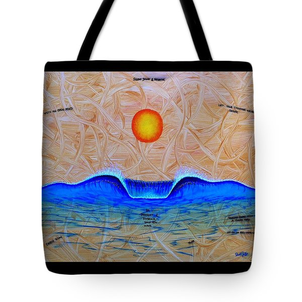 Slow Down And Breathe Tote Bag