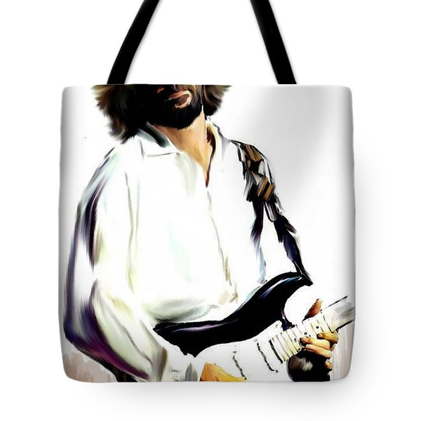 Slow Hand  Eric Clapton Tote Bag by Iconic Images Art Gallery David Pucciarelli