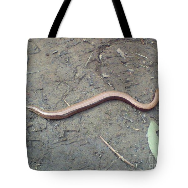 Slow Worm Tote Bag