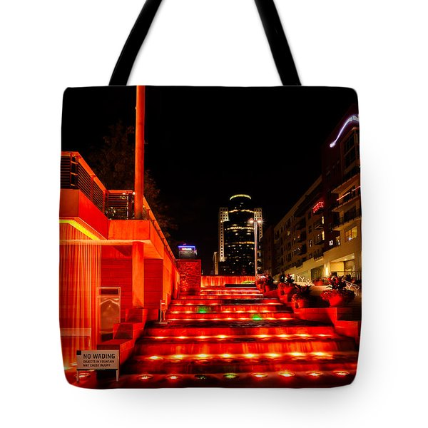 Smale Park At Night Tote Bag by Keith Allen