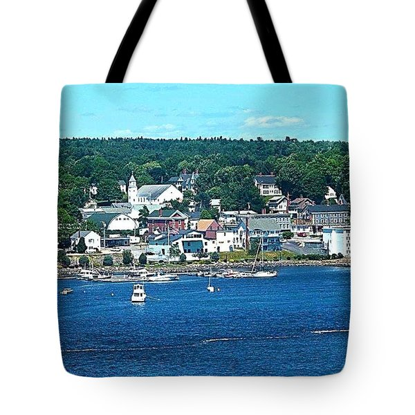 Small Coastal Town America Tote Bag by Tara Potts