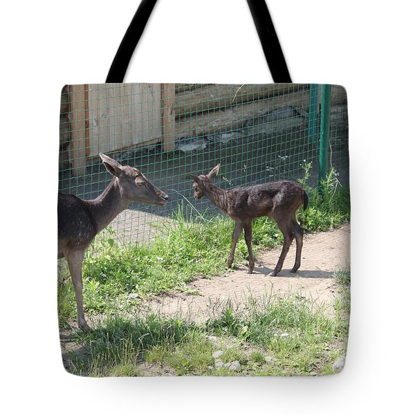 Small Deer Tote Bag by Evgeny Pisarev