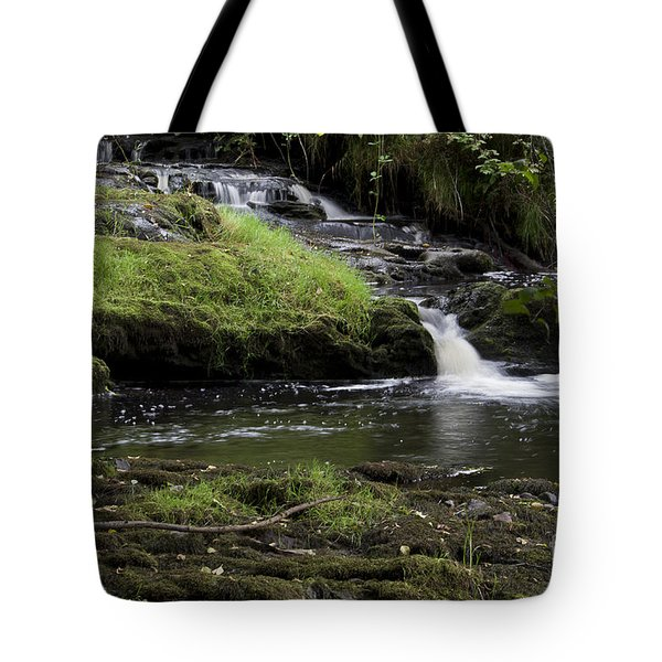 Small Falls On West Beaver Creek Tote Bag by Kathy McClure