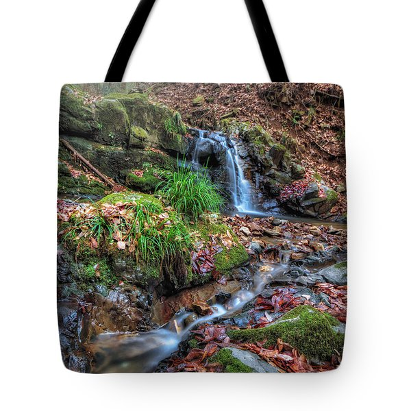 Small Fog Waterfall Tote Bag