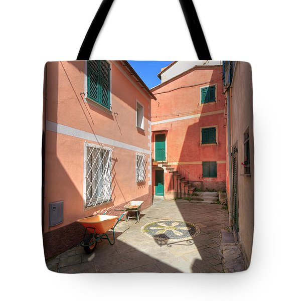 small square in Camogli Tote Bag