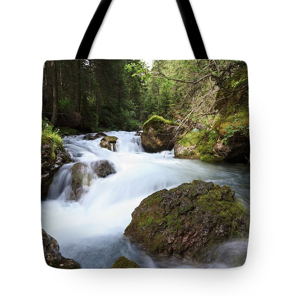 Tote Bag featuring the photograph Small Stream by Antonio Scarpi