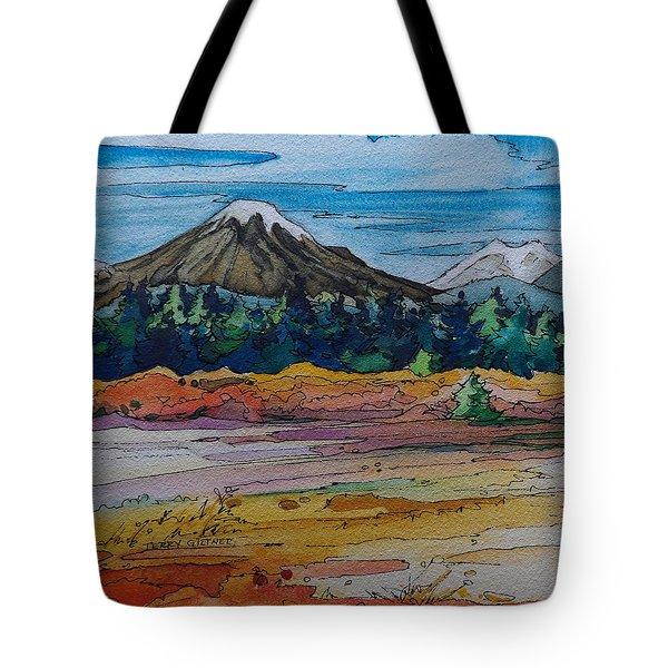 Small Sunriver Scene Tote Bag