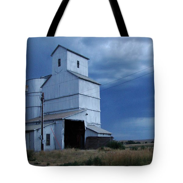 Tote Bag featuring the photograph Small Town Hot Night Big Storm by Cathy Anderson