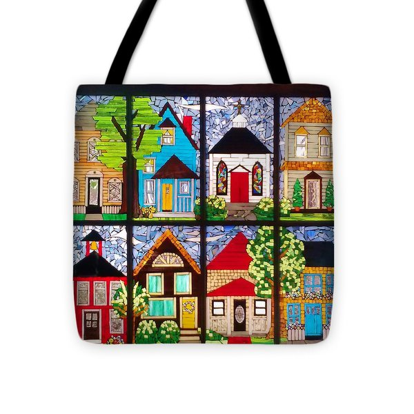 Small Town Tote Bag by Liz Lowder