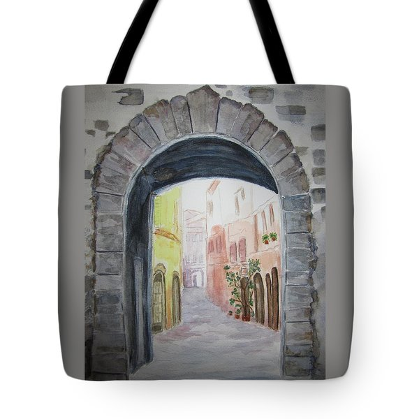 Small Village In Italy Tote Bag by Elvira Ingram