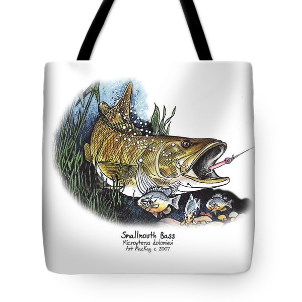 Smallmouth Bass Tote Bag