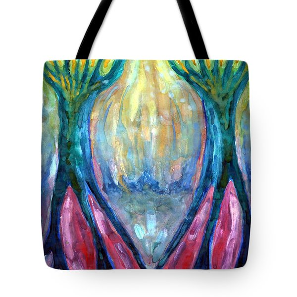 Smeared Morning Tote Bag by Wojtek Kowalski