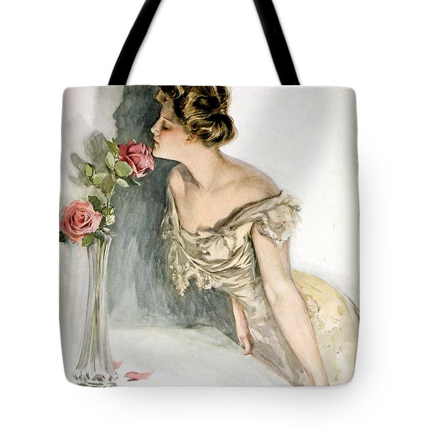 Smelling The Roses Tote Bag by Harrison Fisher