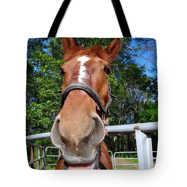 Tote Bag featuring the photograph Smile by Ed Weidman