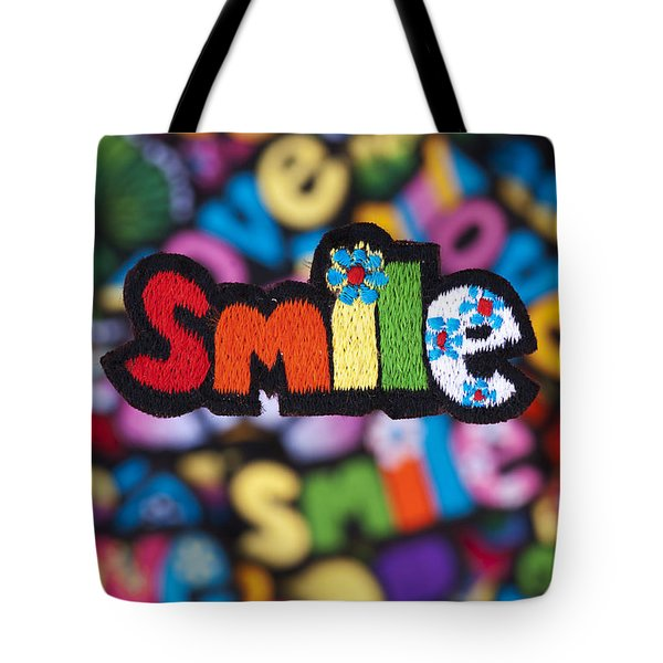 Smile Tote Bag by Tim Gainey
