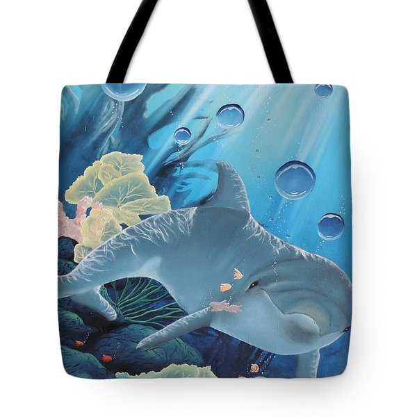 Tote Bag featuring the painting Smiley by Dianna Lewis