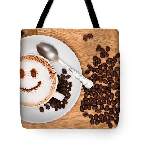 Smiley Face Coffee Tote Bag