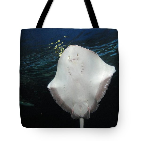 Smiley Ray Tote Bag by Brian Chase