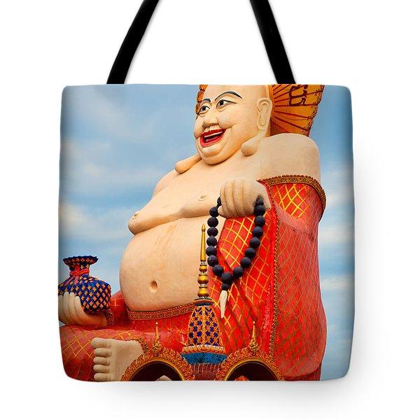 smiling Buddha Tote Bag by Adrian Evans