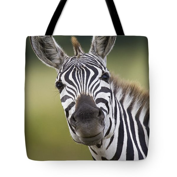 Tote Bag featuring the photograph Smiling Burchells Zebra by Suzi Eszterhas