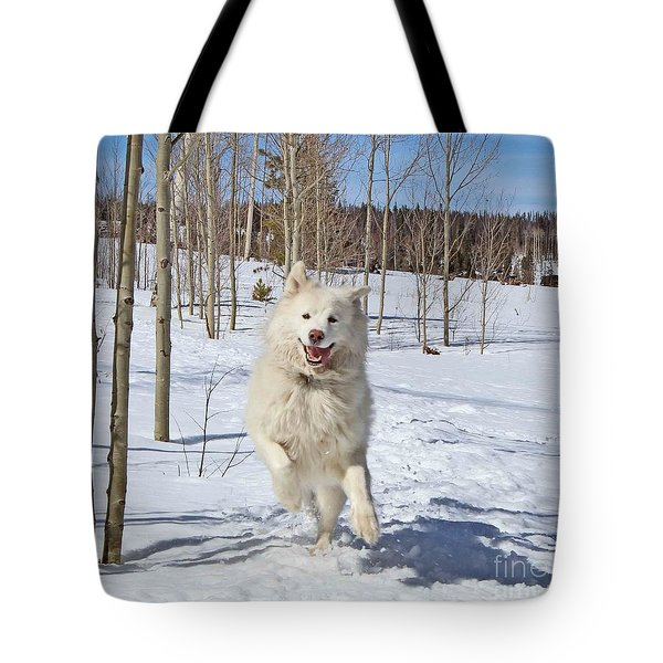 Smiling From Ear To Ear Tote Bag by Fiona Kennard