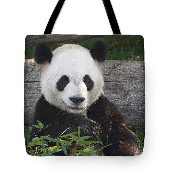 Smiling Giant Panda Tote Bag by Lingfai Leung