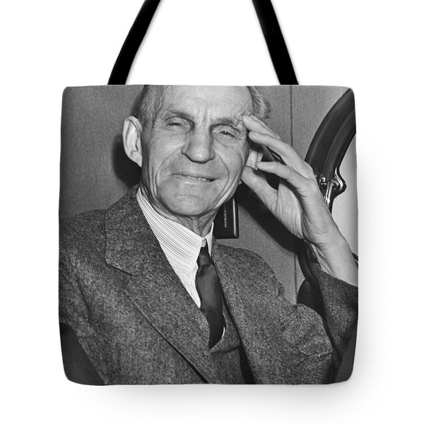 Smiling Henry Ford Tote Bag by Underwood Archives