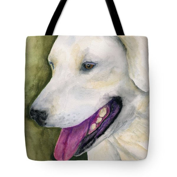 Smiling Lab Tote Bag by Stephen Anderson