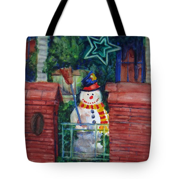 Smiling Snowman 1 Tote Bag