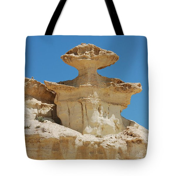 Smiling Stone Man Tote Bag by Linda Prewer